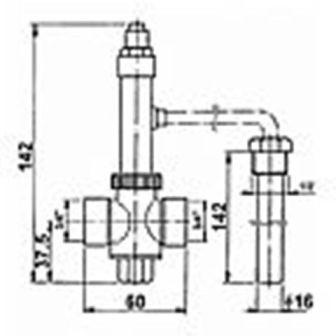 Dochladzovací ventil Watts STS 20 - 2