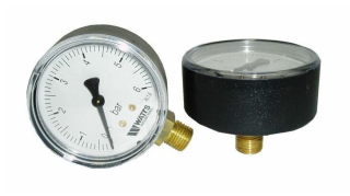 MANOMETER WATTS 0- 6 Bar Zadný / 1/4""